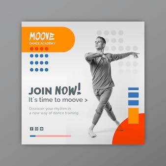 Modèle de flyer carré de cours de danse