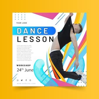 Modèle de flyer carré dansant