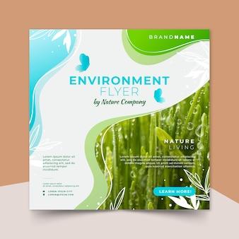 Modèle de flyer carré environnement