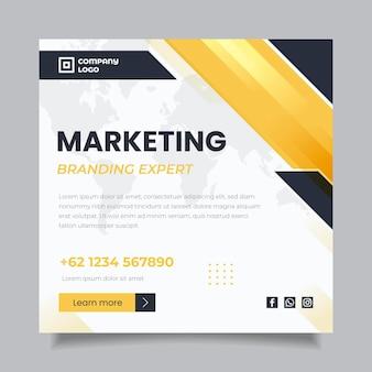 Modèle de flyer carré marketing commercial