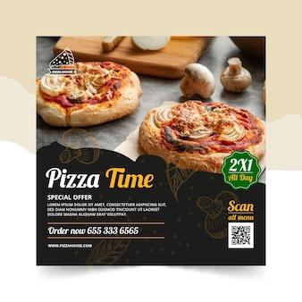 Modèle de flyer carré restaurant pizza