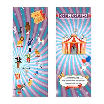 Modèle de flyer de cirque vintage
