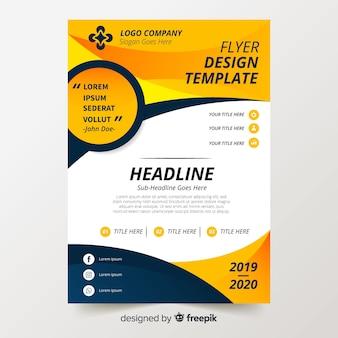 Modèle de flyer coloré avec design plat