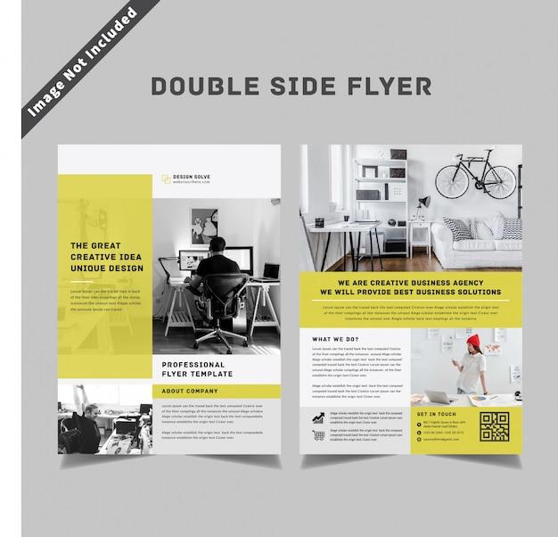 Modèle de flyer de commerce double face
