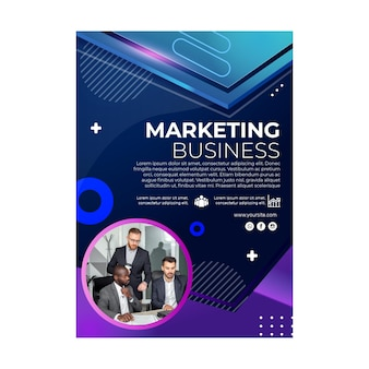 Modèle de flyer commercial marketing
