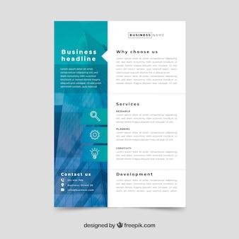 Modèle de flyer concept business