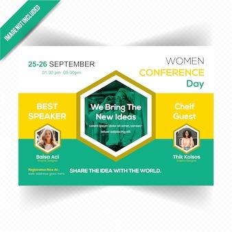 Modèle de flyer de conférence de leadership des femmes