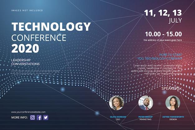 Modèle de flyer de conférence technologique