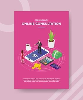Modèle de flyer de consultation en ligne technologique