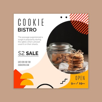 Modèle de flyer de cookies