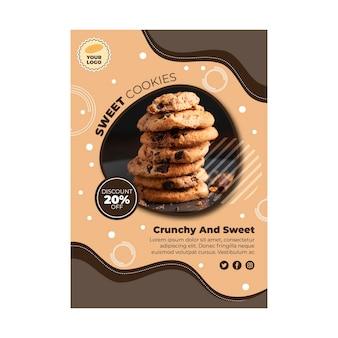 Modèle De Flyer De Cookies Vecteur gratuit
