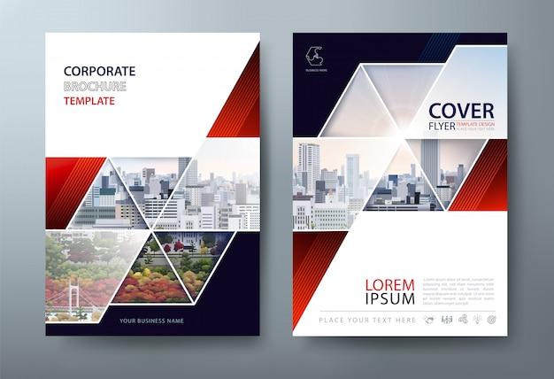 Modèle de flyer, couverture de livre, mise en page au format a4.