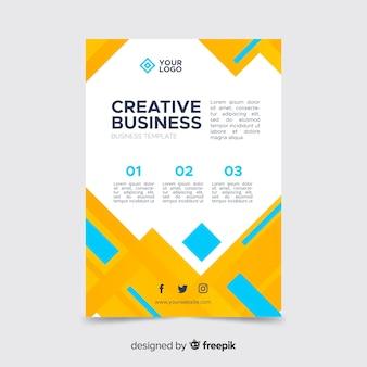 Modèle de flyer créatif abstrait pour entreprise