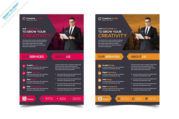 Modèle de flyer créatif et corporatif