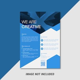 Modèle de flyer créatif