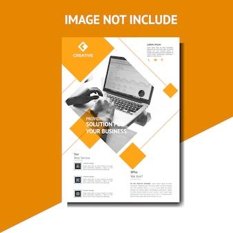 Modèle de flyer creative orange corporate