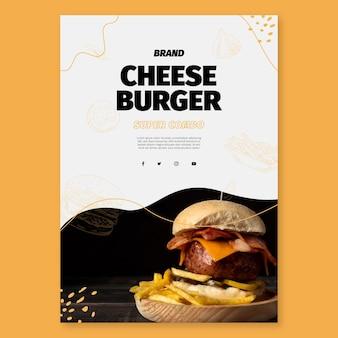 Modèle de flyer de cuisine américaine