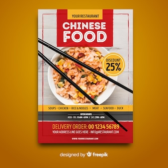 Modèle de flyer de cuisine chinoise