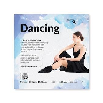 Modèle de flyer de danse