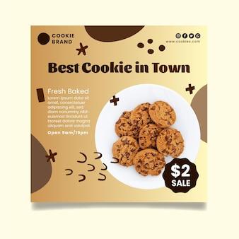 Modèle de flyer de délicieux cookies