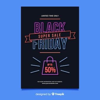Modèle de flyer design noir vendredi