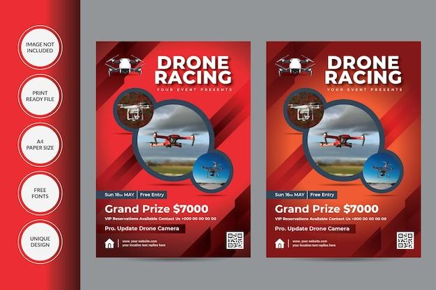 Modèle de flyer de drone
