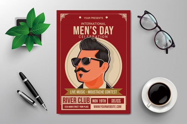 Modèle de flyer du jour des hommes internationaux