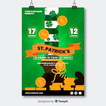 Modèle de flyer du jour de st. patrick