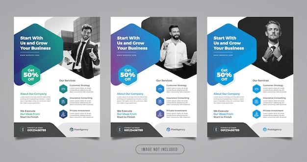 Modèle de flyer d'entreprise d'agence numérique
