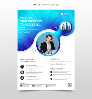 Modèle de flyer d'entreprise créative avec modèle de couleur dégradé