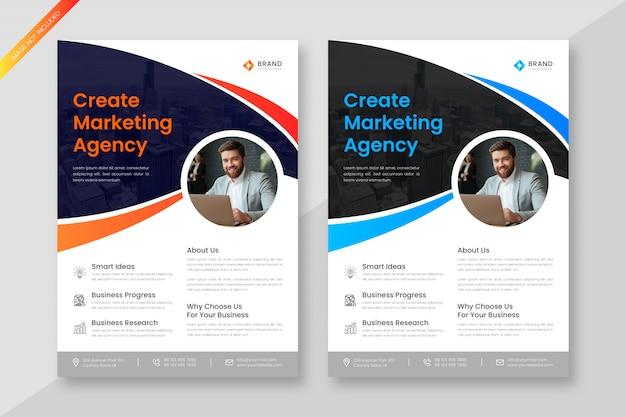 Modèle de flyer d'entreprise créative