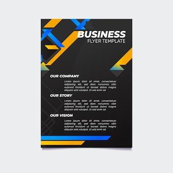 Modèle de flyer d'entreprise dégradé créatif