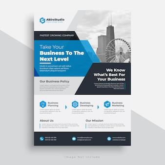 Modèle de flyer d'entreprise avec un design moderne