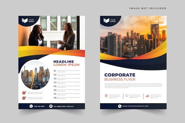 Modèle de flyer d'entreprise élégant et dynamique