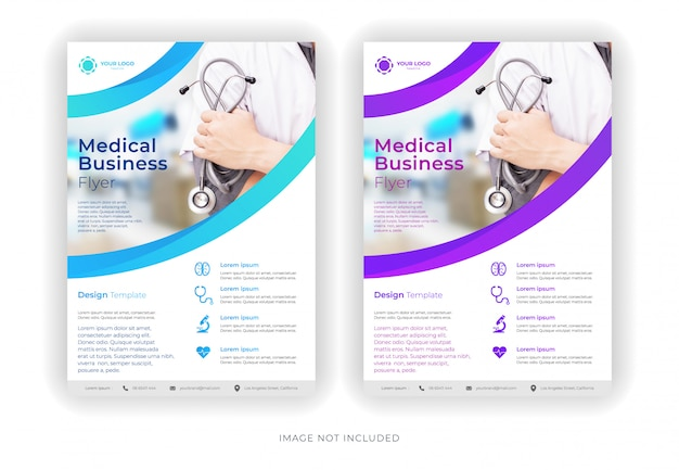 Modèle de flyer d'entreprise médicale créative