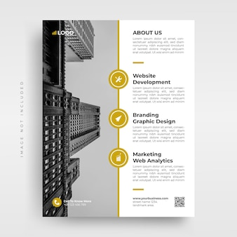 Modèle de flyer d'entreprise minimaliste et élégant