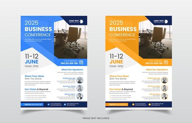Modèle de flyer d'entreprise moderne de conférence d'affaires