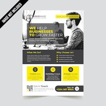 Modèle de flyer d'entreprise moderne créative