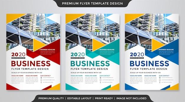 Modèle de flyer entreprise moderne avec un style moderne et abstrait