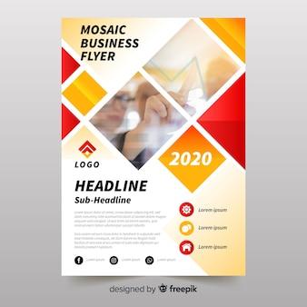 Modèle de flyer entreprise mosaïque