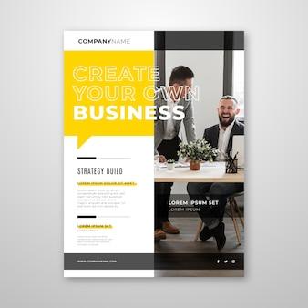 Modèle de flyer d'entreprise avec photo