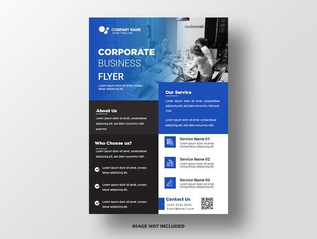 Modèle de flyer de entreprise premium