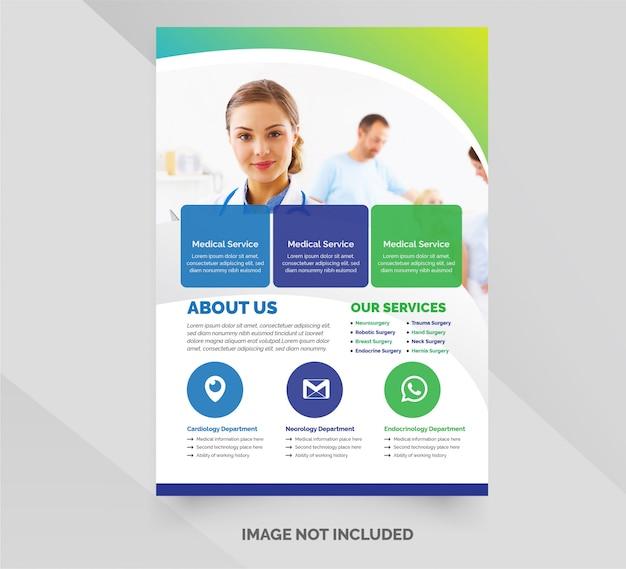 Modèle de flyer entreprise santé