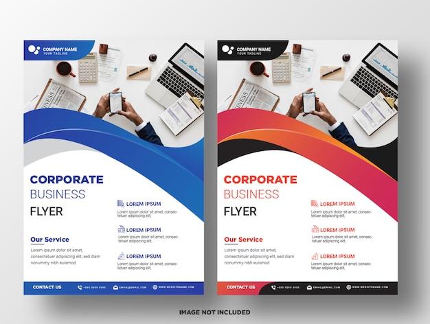 Modèle de flyer de l'entreprise.