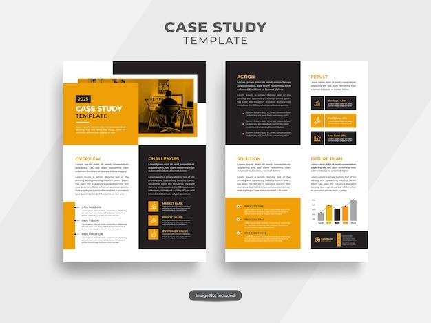 Modèle de flyer d'étude de cas pour entreprise ou agence de marketing avec un design moderne et créatif