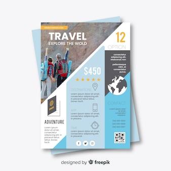 Modèle de flyer explorez le monde