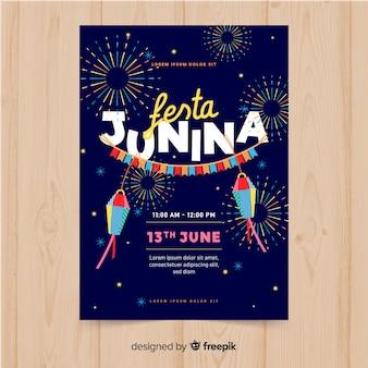 Modèle de flyer festa junina