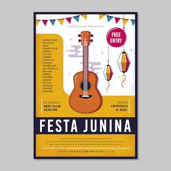 Modèle de flyer de festa junina