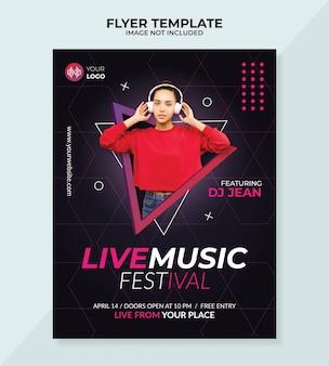 Modèle de flyer de festival de musique live