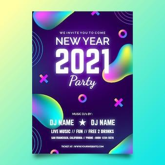 Modèle de flyer de fête abstrait nouvel an 2021